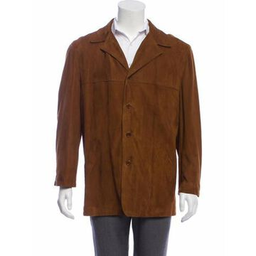 Suede Button-Up Jacket brown