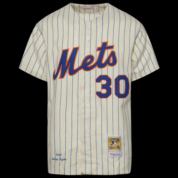 Mitchell & Ness MLB Authentic Collection Jersey - New York Mets - Cream, Size One Size