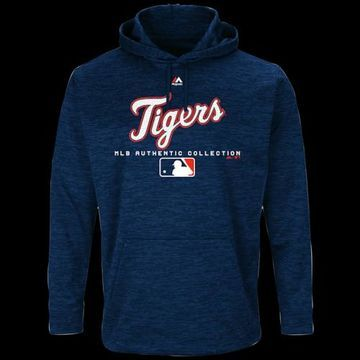 Majestic MLB Player On Field Hoodie - Detroit Tigers - Navy