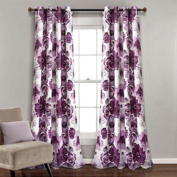 Lush Decor Leah 2- Pack Room Darkening Window Curtains, Grey, 52X84