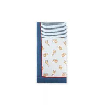 Little Me Lion Giraffe Blanket In Blue