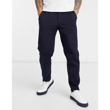 Selected Homme tapered pants set in navy