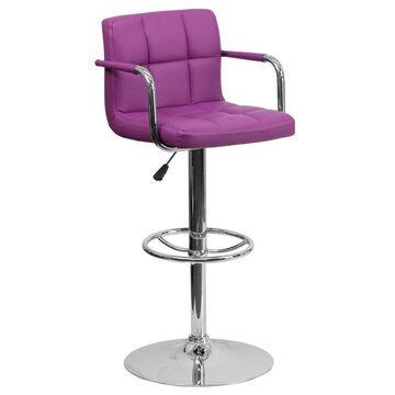Flash Furniture Purple Adjustable Stool