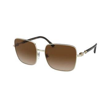 Bvlgari BV6134 278/13 58 Pale Gold Woman Square Sunglasses
