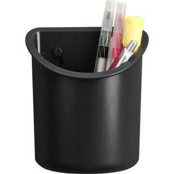 Lorell, LLR80668, Recycled Plastic Mounting Pencil Cup, 1 Each, Black