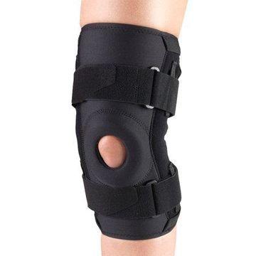 OTC Orthotex Knee Stabilizer with ROM Hinged Bars, Black, Large