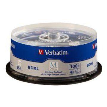 Verbatim M-Disc - 25 x BD-R XL - 100 GB 4x - spindle (98914)
