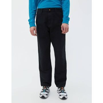 Double Knee Canvas Pant in Black