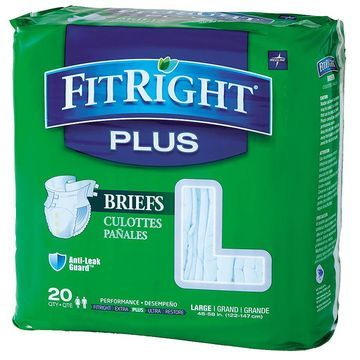 Medline FitRight Plus Briefs Large