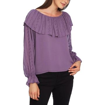 1.State Womens Peasant Top Embroidered Ruffled