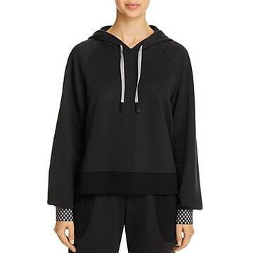 Terez Checkerboard-Cuff Hooded Sweatshirt