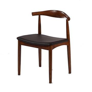 Fine Mod Imports Hansen Dining Chair, Walnut