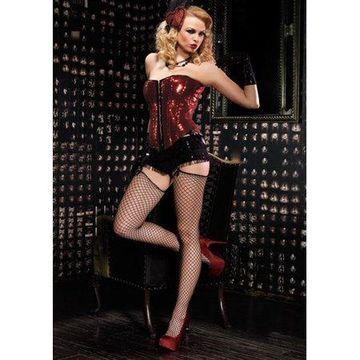 Leg Avenue Women's Sadie Corset, Medium, Red