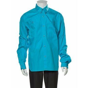 Long Sleeve Dress Shirt w/ Tags Blue