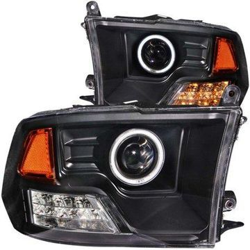 ANZO USA 111159 09-13 RAM PROJECTOR HALO BLACK CLEAR AMBER (CCFL) HEADLIGHTS