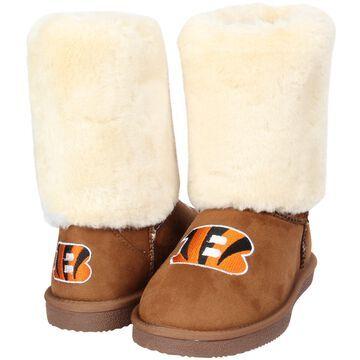 Women's Cincinnati Bengals Cuce Tan Fan Boot