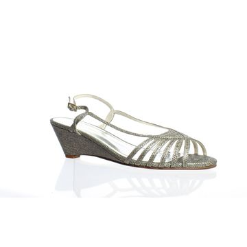 Caparros Womens Tango Champagne Ankle Strap Heels Size 9.5