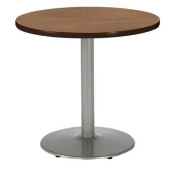 """KFI Mode Round Top Multipurpose Table, Silver Base, Standard Height (36"""" round top - river cherry)"""