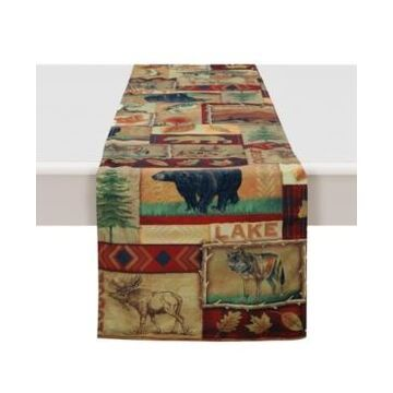 """Laural Home Lodge Collage Table Runner - 13""""x 72"""""""