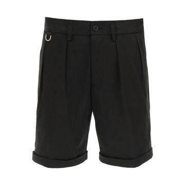 Neil barrett minimalist slim naval shorts