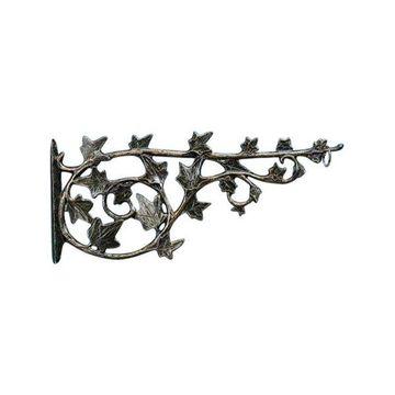 Aluminum Ivy Branch 16 Inch Outdoor Hook - French Bronze