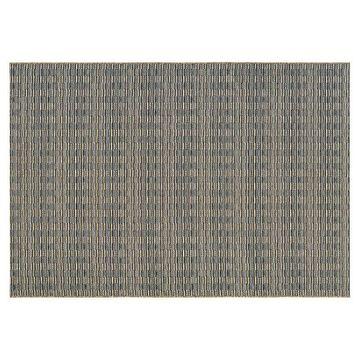 Couristan Cape Barnstable Geometric Indoor Outdoor Rug, Black, 2X8 Ft