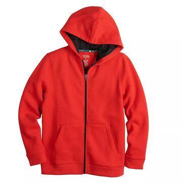 Boys 8-20 Tek Gear Ultra Soft Full-Zip Hoodie, Boy's, Size: Large HUSKY, Med Red