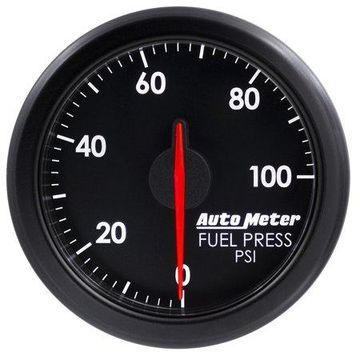 AutoMeter 9171-T AirDrive Fuel Pressure Gauge; 2-1/16 in.; Black Dial Face; User Selectable LED; Electric Air-Core; 0-100 PSI; Works w/Most OBDII Vehicles;