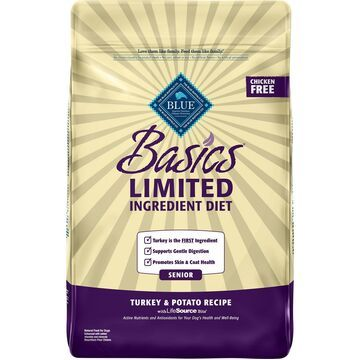 Blue Buffalo Basics Limited Ingredient Diet Turkey & Potato Recipe Senior Dry Dog Food