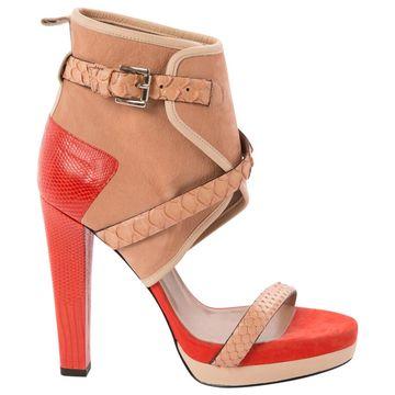 Barbara Bui Orange Leather Heels