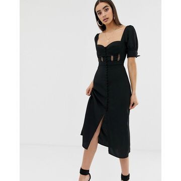 Fashion Union structured corset midi dress