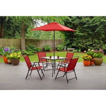 Mainstays Albany Lane 6-Piece Outdoor Patio Dining Set, Multiple Colors
