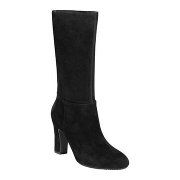 Aerosoles Women's Backstage Tall Boot Black Suede