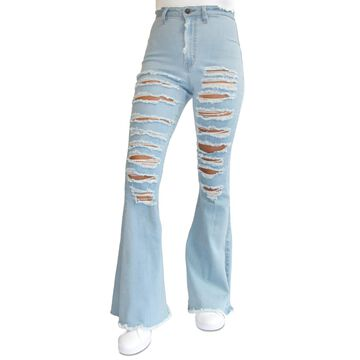 Almost Famous Juniors' Super High Rise Flare Jeans