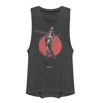 Fifth Sun Women's Tee Shirts CHARCOAL - Star Wars Charcoal IG-11 Muscle Tank - Women & Juniors