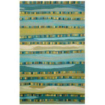 Trans-Ocean Seville Mosaic Stripe 9-Foot x 12-Foot Rug in Blue