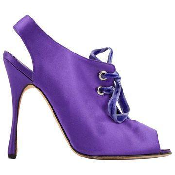 Manolo Blahnik Purple Cloth Heels