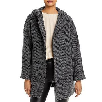 Eileen Fisher Hooded Plaid Coat