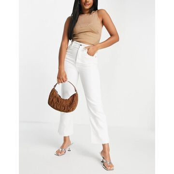 G-Star tedie ultra high straight jeans in white