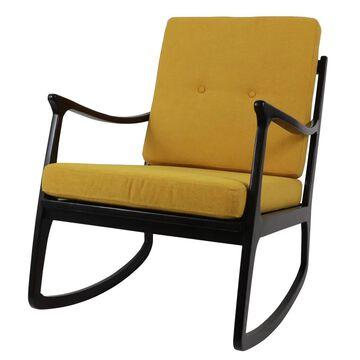 Decor Therapy Modern Dark Brown/Gold Rocking Chair | FR8786