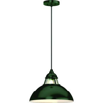 Volume Lighting Green Modern/Contemporary Clear Glass Dome Medium (10-22-in) Pendant Light   V1888-17