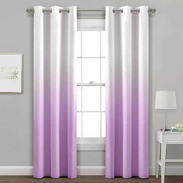 Lush Decor 2-pack Mia Ombre Insulated Grommet Blackout Window Curtain Set, Purple, 38X84