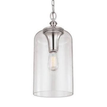 Feiss Hounslow 1-Light Pendant in Polished Nickel