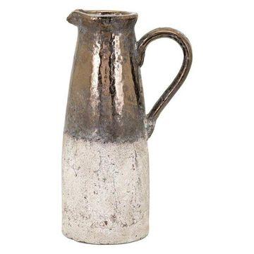 Imax Ceramic Pitcher With Beige Finish 41003