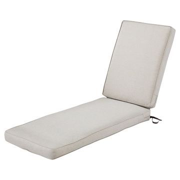 Montlake Fadesafe Patio Chaise Lounge Cushion Set - Heather - Classic Accessories