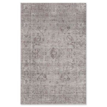 Rugs America Asteria Floral 8' x 10' Area Rug in Grey