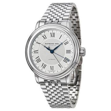 Raymond Weil Men's 'Maestro' Stainless Steel Swiss Mechanical Automatic Watch