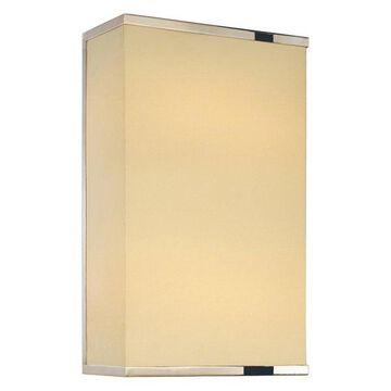 Sonneman Rettangolo Polished Nickel Rettangolo 1 Light CFL Wall Sconce