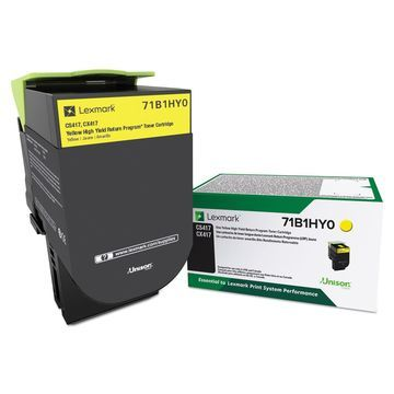 Lexmark 71B1HY0 High-Yield Toner Yellow