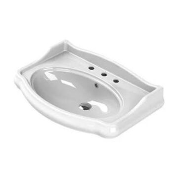 "Nameeks 030300-U-Three Hole CeraStyle Collection 33"" Ceramic Wall - White"